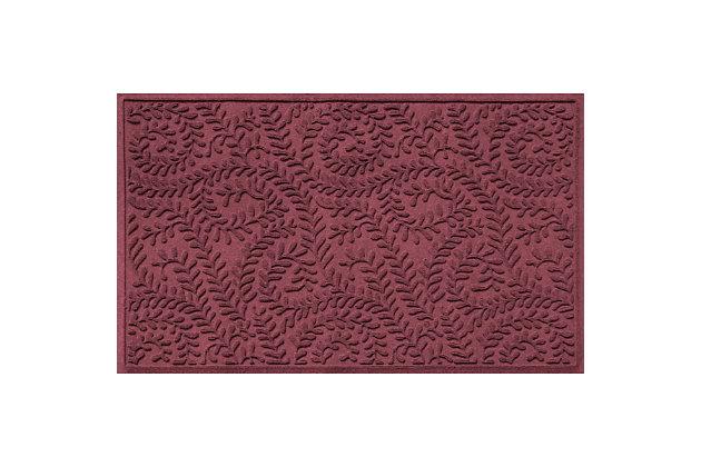 Waterhog Boxwood 3' x 5' Doormat, Bordeaux, large