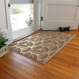 Waterhog Deanna 3' x 5' Doormat, Camel, rollover