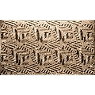 Waterhog Deanna 3' x 5' Doormat, Camel, large