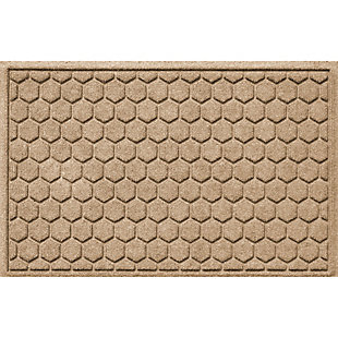 Waterhog Honeycomb 2' x 3' Doormat, Camel, large