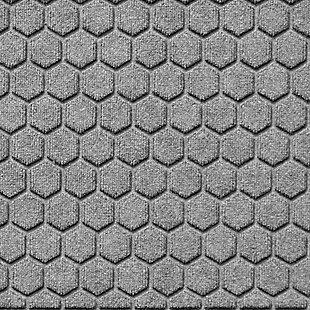 Waterhog Honeycomb 2' x 3' Doormat, Medium Gray, large