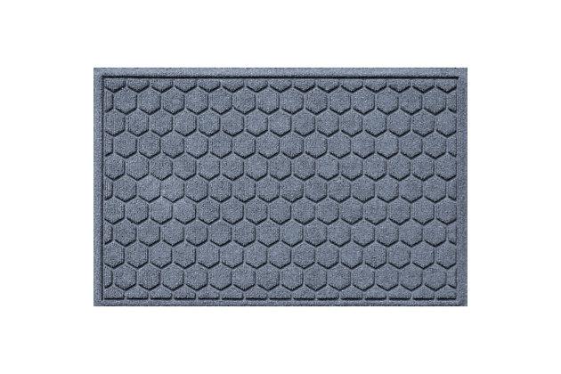 Waterhog Honeycomb 2' x 3' Doormat, Bluestone, large