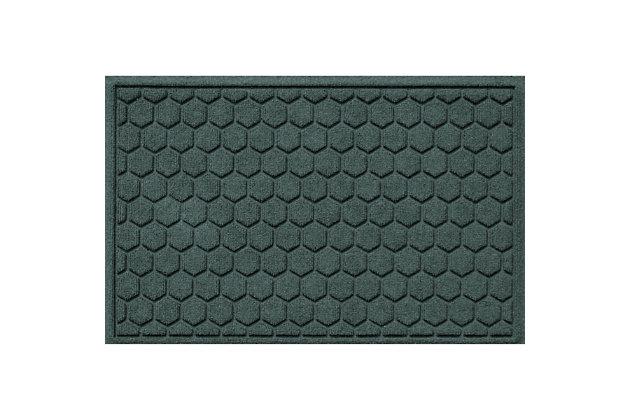 Waterhog Honeycomb 2' x 3' Doormat, Evergreen, large