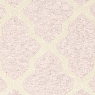 Cambridge 2' x 3' Wool Pile Rug, Light Pink/Ivory, large
