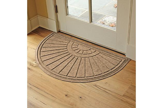 """Waterhog Sunburst 24"""" x 39"""" Half Round Doormat, , large"""