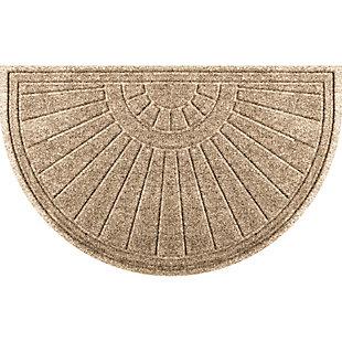 """Waterhog Sunburst 24"""" x 39"""" Half Round Doormat, Camel, large"""