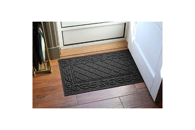 Waterhog Tristan 2' x 3' Doormat, Charcoal, large