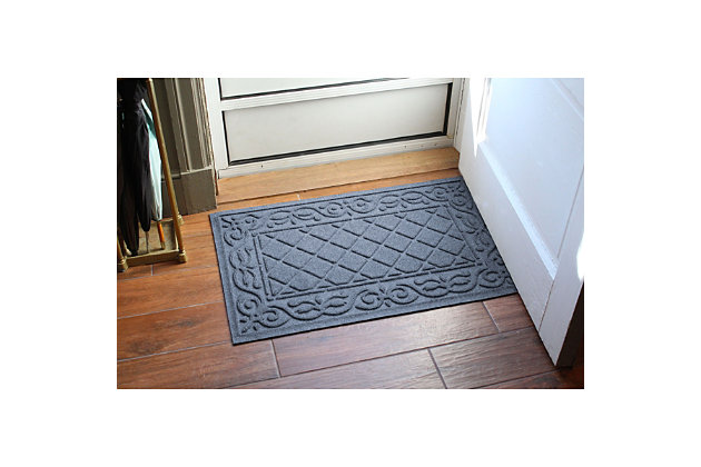 Waterhog Tristan 2' x 3' Doormat, Bluestone, large