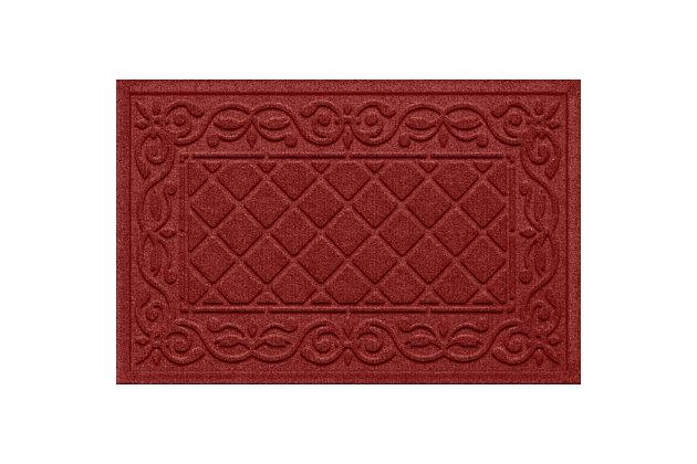 Waterhog Tristan 2' x 3' Doormat, Red, large