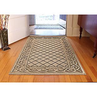 Waterhog Tristan 3' x 5' Doormat, Camel, large