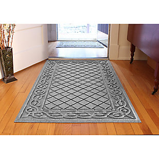 Waterhog Tristan 3' x 5' Doormat, Medium Gray, rollover