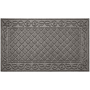 Waterhog Tristan 3' x 5' Doormat, Medium Gray, large