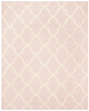 "Cambridge 7'6"" x 9'6"" Wool Pile Rug, Light Pink/Ivory, large"