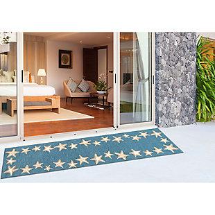 "Transocean Fortina Ocean Jewels Indoor/Outdoor Rug Bluewater 5'x7'6"", Blue, rollover"