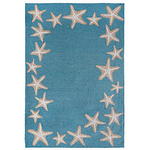 """Transocean Fortina Ocean Jewels Indoor/Outdoor Rug Bluewater 5'x7'6"""", Blue, large"""