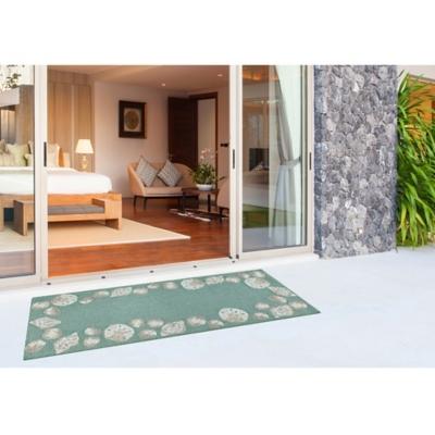 "Transocean Fortina Beachcomber Indoor/Outdoor Rug Aqua 5'x7'6"", Blue, large"