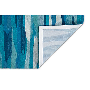 "Transocean Fortina Dunes Indoor/Outdoor Rug Aruba 5'x7'6"", Blue, large"