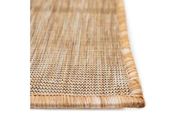 "Transocean Mateo Testudine Indoor/Outdoor Rug Sand 39""x59"", Natural, large"
