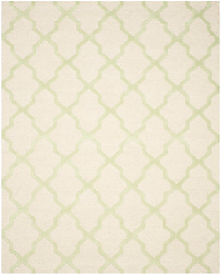 "Cambridge 7'6"" x 9'6"" Wool Pile Rug, Ivory/Light Green, rollover"