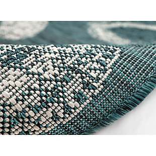 "Transocean Mateo Ocean Jewels Indoor/Outdoor Rug Aqua 4'10""x7'6"", Blue, large"