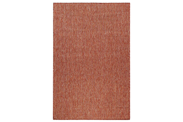 """Transocean Mateo Solid Indoor/Outdoor Rug Red 6'6""""x9'4"""", Red, large"""