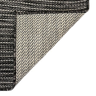 "Transocean Mateo Solid Indoor/Outdoor Rug Black 23""x7'6"", Black, large"