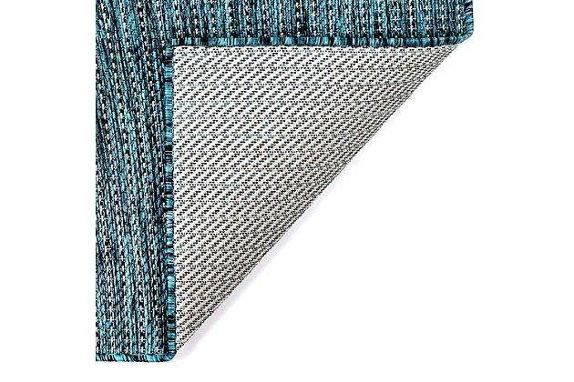 "Transocean Mateo Solid Indoor/Outdoor Rug Aqua 4'10""x7'6"", Blue, large"