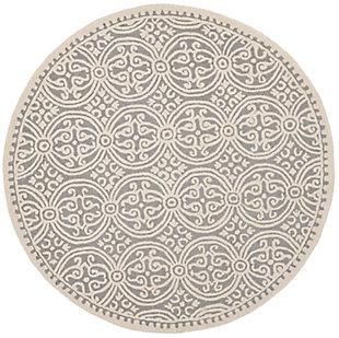 Cambridge 6' x 6' Round Wool Pile Rug, , large