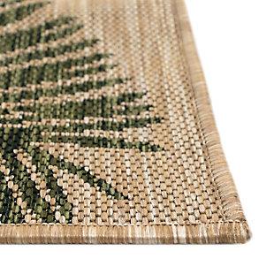"Transocean Mateo Botanical Indoor/Outdoor Rug Green 4'10""x7'6"", Green, large"