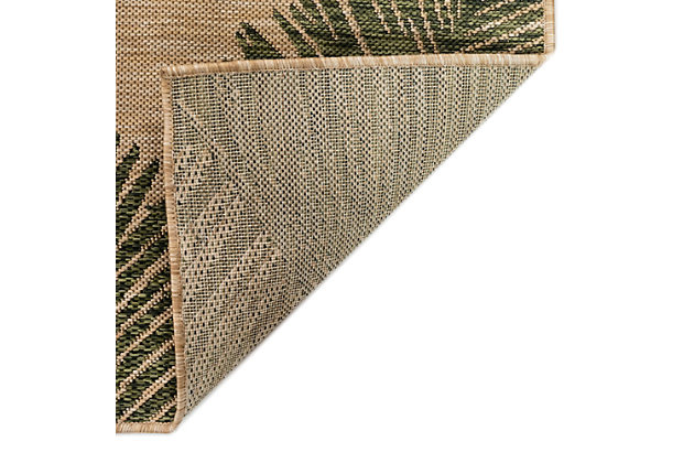 "Transocean Mateo Botanical Indoor/Outdoor Rug Green 6'6""x9'4"", Green, large"