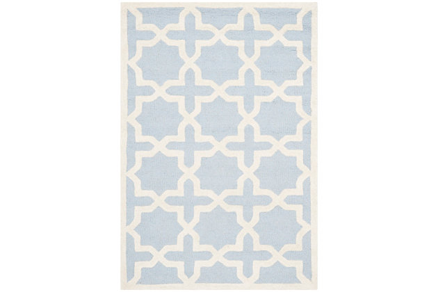 Cambridge 3' x 5' Wool Pile Rug | Tuggl
