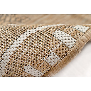 """Transocean Mateo Flying Beauty Indoor/Outdoor Rug Sand 6'6""""x9'4"""", Beige, large"""