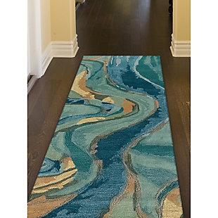 "Transocean Porto Scenic Indoor Rug Blue/Green 5'x7'6"", Blue, rollover"
