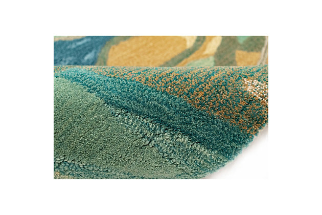 """Transocean Porto Scenic Indoor Rug Blue/Green 5'x7'6"""", Blue, large"""