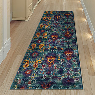 "Transocean Carnivale Java Indoor Rug Blue 5'3""x7'6"", Blue, rollover"