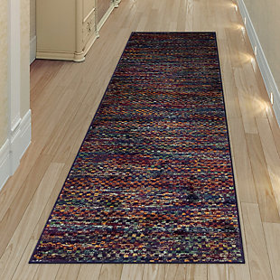 "Transocean Carnivale Solid Indoor Rug Blue 5'3""x7'6"", Blue, rollover"