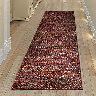 """Transocean Carnivale Solid Indoor Rug Red 5'3""""x7'6"""", Red, rollover"""