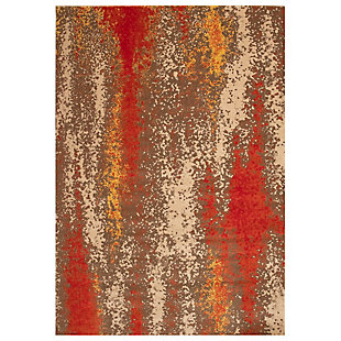 "Transocean Beekman Speckle Indoor/Outdoor Rug Sunrise 4'10""x7'6"", Orange, large"