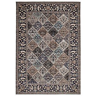 "Transocean Beekman Florette Indoor/Outdoor Rug Blue 4'10""x7'6"", Blue, large"