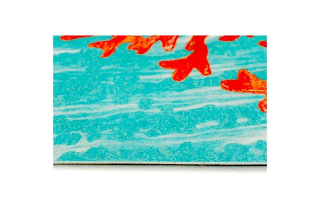 "Transocean Cirrus Sea Tree Indoor/Outdoor Rug Aqua 19.5""x29.5"", Blue, large"