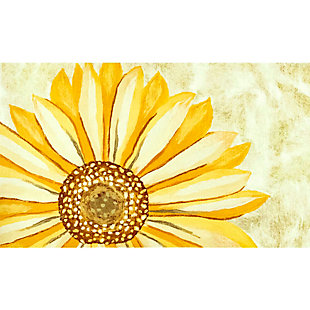 """Transocean Cirrus Summer Happiness Indoor/Outdoor Rug Yellow 29""""x49"""", Yellow, large"""