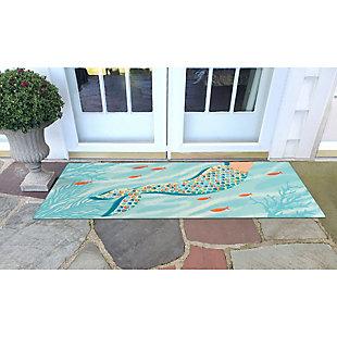 """Transocean Cirrus Sea Queen Indoor/Outdoor Rug Ocean 29""""x49"""", Blue, rollover"""