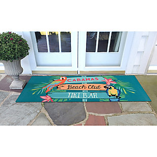 "Transocean Cirrus Time For Fun Indoor/Outdoor Rug Multi 29""x49"", Multi, rollover"
