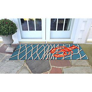 """Transocean Cirrus Crustacean Indoor/Outdoor Rug Navy 29""""x49"""", Navy, rollover"""