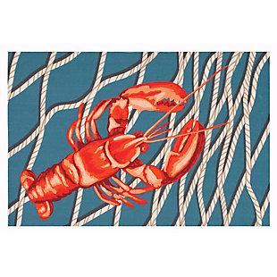 """Transocean Cirrus Crustacean Indoor/Outdoor Rug Navy 29""""x49"""", Navy, large"""