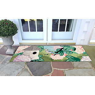 "Transocean Cirrus Spring BiRounds Indoor/Outdoor Rug Spring 29""x49"", Green, rollover"