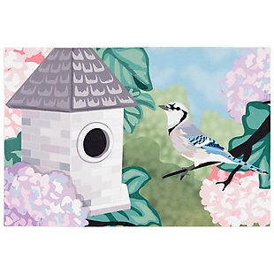 "Transocean Cirrus Spring BiRounds Indoor/Outdoor Rug Spring 29""x49"", Green, large"