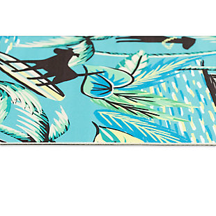 "Transocean Cirrus Hang Ten Indoor/Outdoor Rug Sunrise 29""x49"", Blue, large"