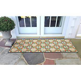 "Transocean Cirrus Beach Jewels Indoor/Outdoor Rug Ocean 29""x49"", Blue, rollover"