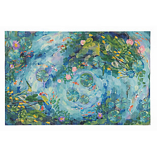"Transocean Cirrus Escape Indoor/Outdoor Rug Seafoam 4'10""x7'6"", Green, large"